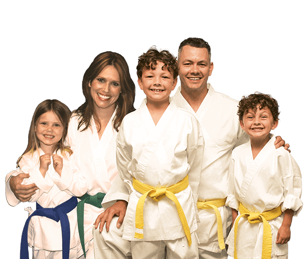 Martial Arts Lessons for Families in Columbia MO - Group Family for Martial Arts Footer Banner