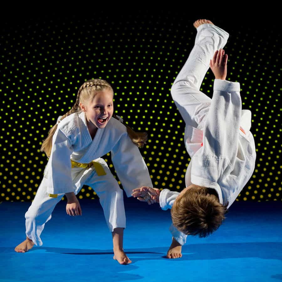 Martial Arts Lessons for Kids in Columbia MO - Judo Toss Kids Girl