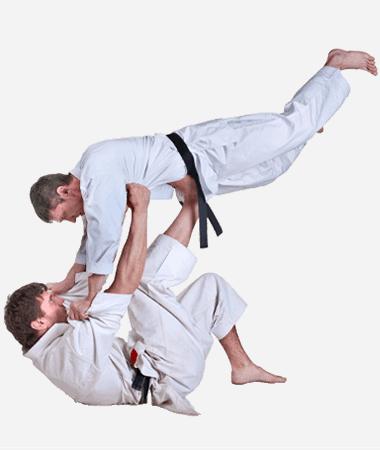 Brazilian Jiu Jitsu Lessons for Adults in Columbia MO - BJJ Floor Throw Men