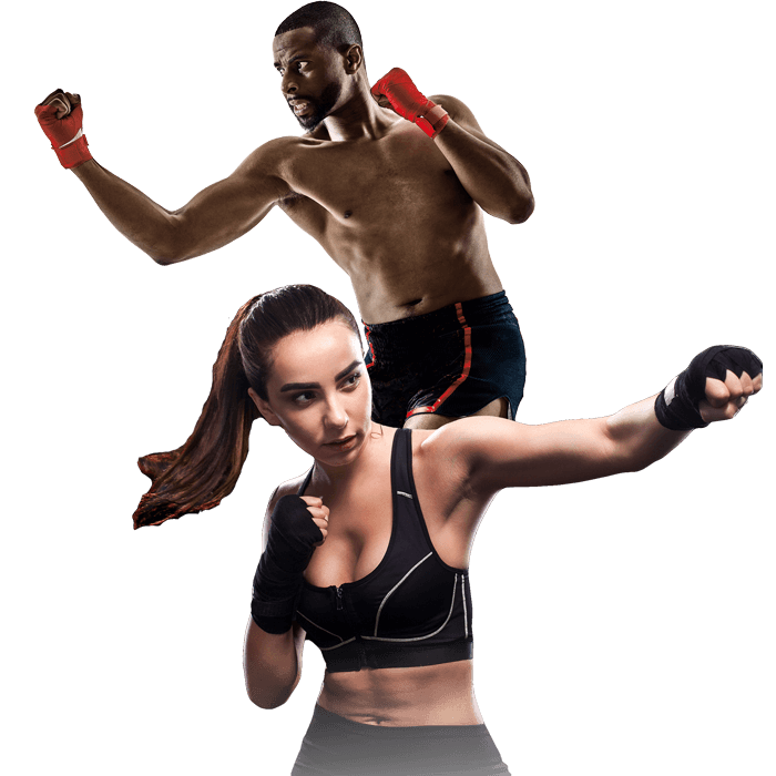 Mixed Martial Arts Lessons for Adults in Columbia MO - Man and Woman Punching Hooks